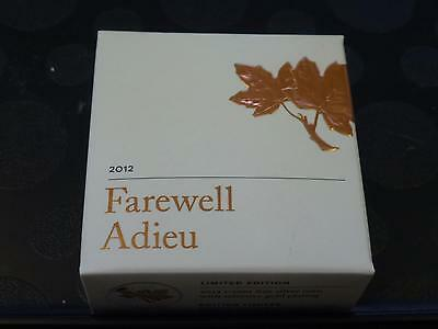 Canada - 2012 Farewell To 1 Cent 99.99% Silver Coin In Rcm Box + Coa