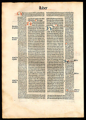 1494 City of God Incunable Leaf St Augustine of Hippo Christian Commentary