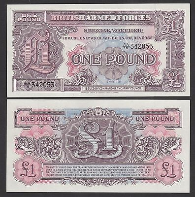 British Armed Forces UK, Great Britain 1 Pound (1948) P-M22 banknote - UNC