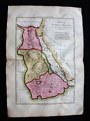 1787 BONNE/DESMAREST - rare map of AFRICA, AFRIQUE, NUBIA, SUDAN, RED SEA, EGYPT