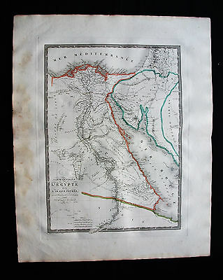 1822 BRUE - Orig BIG map of Africa, Egypt, Lybia, Suez, Tripoli, Cairo, Egypté..
