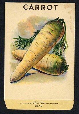 CARROT, Stock Antique Seed Packet, Country Store, stain, 075