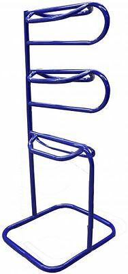 3 Tier Western Or English Horse Saddle Rack Heavy Powder Coated Steel Blue