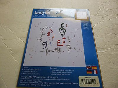"Gift of Music  counted cross stitch kit from Janlynn (2001)14"" x14"" unopened kit"