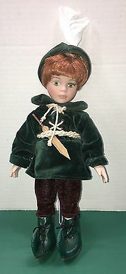 """SEYMOUR MANN 10"""" Porcelain PETER PAN Doll ~ Story Book Tiny Tots ~ Hand Painted"""