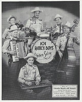 Andy Reynolds 101 Ranch Boys - 3 8x10 Photos WSBA Columbia - Grand Ole Opry