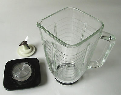 Vintage Osterizer Beach Blender Jar Pitcher Replacement Mixer Square Side Glass