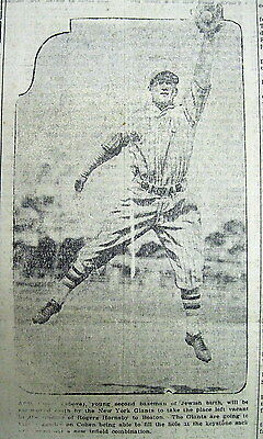2 1928 newspapers w Photos &Text ANDY COHEN Jewish Major League BASEBALL PLAYER