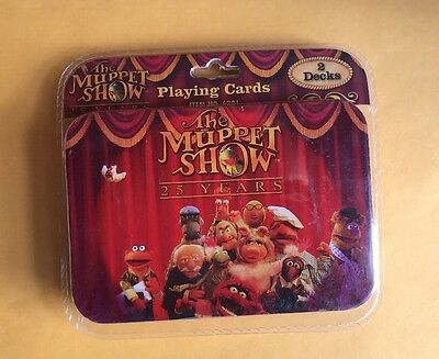 Jim Henson's The Muppet Show 25 Years 2 Decks Playing Cards With Tin 2003