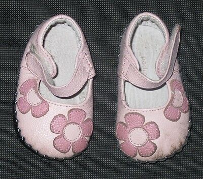 Pediped Pink Leather Mary Jane Shoes Baby Girl's 0-6 Months Mos