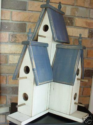 Blue Victorian Birdhouse,25 Tall,Americana, Wooden Creations,US-Southeast-2017