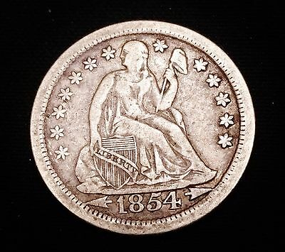 1854-O Seated Liberty Dime - Nice VF Coin