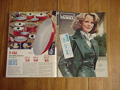 CATALOG BOOK Montgomery Wards Vintage FALL & WINTER 1976 Fashions+Household+Misc