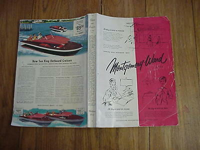 CATALOG BOOK Montgomery Wards Vintage 1957 SPRING AND SUMMER Fashions+Household+