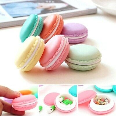 NEW Novelty Candy Shape Macaroon Box Jewelry Bag Party Gift Macaron Storage Case