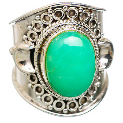 Chrysoprase 925 Sterling Silver Ring Size 8 Ana Co Jewelry R818512
