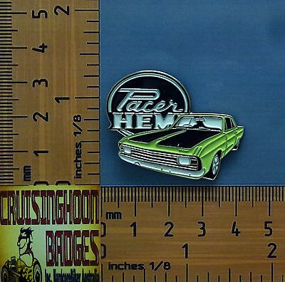 VG Hemi Pacer Chrysler Valiant Green Sedan Quality Metal Lapel Pin Badge