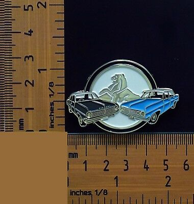 HD & HR Holden Grey and Blue Sedans Quality Metal Lapel Pin / Badge