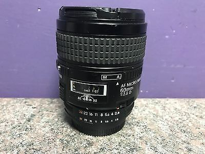 NIKON AF MICRO 60mm 1:2.8D Lens WORKING