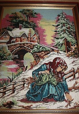 Tapestry Alpine snow country cottage mountain alps winter framed tapestry