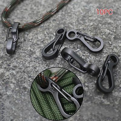 10pc Mini Spring Clasp Snap Clip Hook Climbing Carabiner EDC Outdoor Buckle