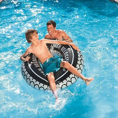 "Bestway 47"" Inflatable Tyre Tube Beach Swimming Pool Sea Swim Rubber Lilo Ring"