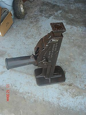 Vintage Antique Railroad Train Rr Barn House  66 Lbs 15 Ton Buckeye Jack Tool