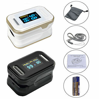Finger Tip Pulse Oximeter Sensor Blood Oxygen Level SPO2 Monitor Heart Rate UK
