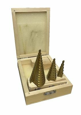 Rdgtools 3Pc Step Drill Set Metric Hss Tin Coated 4 - 32 Drilling Milling Tools