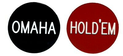 "OMAHA / HOLD'EM  2"" button for Omaha Hold'Em Tournaments Games FREE SHIPPING *"
