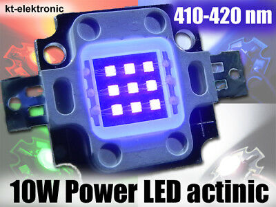 10W Power LED actinic violett 410-420nm 250lm 45*45 mil Chips
