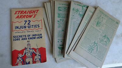 Secrets of Indian Lore and Know-How 1951 Series 1 and 2 and  Cards 3 & 4