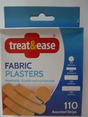 100 x PowerPlast Fabric Plasters Assorted Sizes Breathable Flexible Comfortable