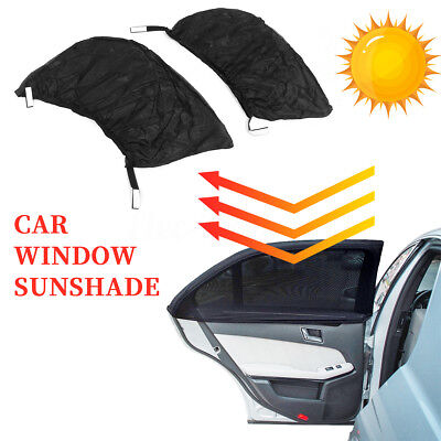 2x Universal Car Side Rear Window Sun Visor Shade Mesh Cover Shield UV Protector