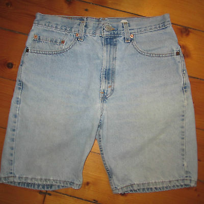 vintage mens 33 Pair of LEVI'S 505 red tab Festival distressed JEAN SHORTS levis