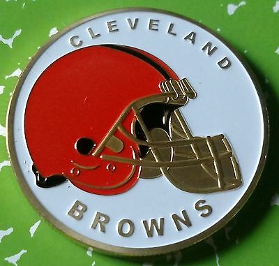 Nfl Cleveland Browns Football Team Colorized Gld Art Round