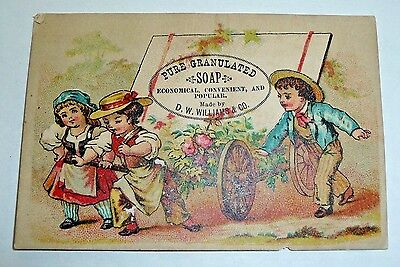 Antique Vintage Victorian Trade Card D.W. Williams Pure Granulated Soap