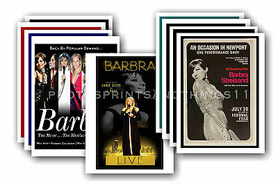 BARBRA STREISAND  - 10 promotional posters - collectable postcard set # 1