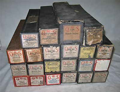 Vintage PLAYER PIANO Music ROLLS--Lot of 22--Good to Very Good