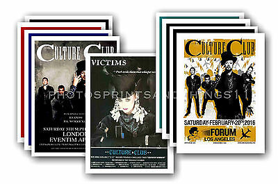 CULTURE CLUB  - 10 promotional posters - collectable postcard set # 1