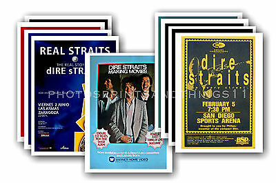 DIRE STRAITS  - 10 promotional posters - collectable postcard set # 1