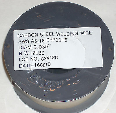 2 Rolls of ER70S-6 Mild Steel Mig Welding Wire 2lb Each .035 Diameter