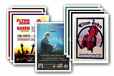 ELTON JOHN - 10 promotional posters - collectable postcard set # 1