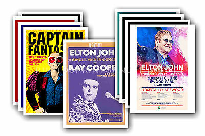 ELTON JOHN - 10 promotional posters - collectable postcard set # 2