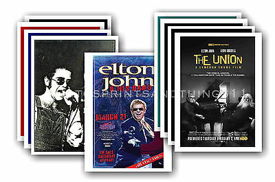 ELTON JOHN - 10 promotional posters - collectable postcard set # 3