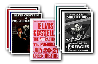 ELVIS COSTELLO - 10 promotional posters - collectable postcard set # 2