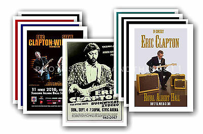 ERIC CLAPTON - 10 promotional posters - collectable postcard set # 1