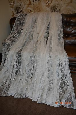 MASSIVE FRENCH  BOUDOIR LACE  CURTAIN 280 ins wide
