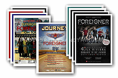 FOREIGNER - 10 promotional posters - collectable postcard set # 1