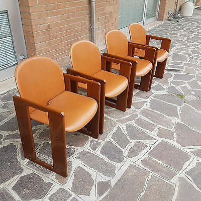 Group Of 4 Armchairs Dialogo Model Afro And Tobia Scarpa B&b Branded Italian